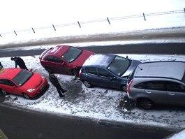 Массовое ДТП в Ижевске: столкнулись 8 машин