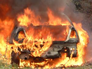 В Удмуртии в иномарке сгорел пьяный водитель