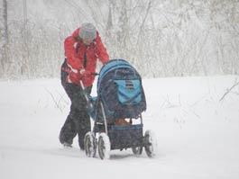 На Ижевск обрушится мокрый снег с дождем