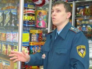 В ижевском магазине пиротехники пожарные выявили нарушения