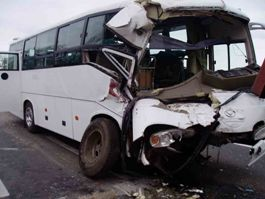 В Удмуртии иномарка столкнулась с автобусом