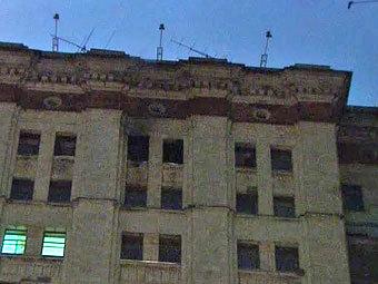 В Москве загорелось общежитие МГУ