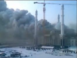 В Казахстане горит крупнейшая соборная мечеть Центральной Азии