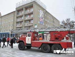 Причина задымления в гостинице «Центральная» в Ижевске - короткое замыкание
