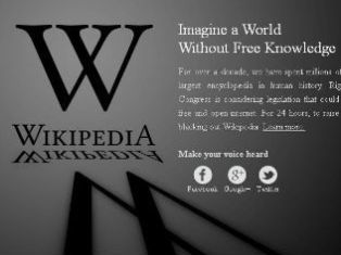 Англоязычная «Википедия» приостановила работу