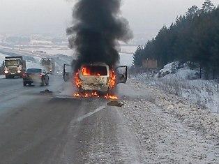 По дороге в Ижевск сгорел автобус с рок-группой из Екатеринбурга