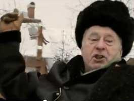 Жириновский избил ослика плетью