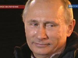 Владимир Путин прослезился на Манежной площади