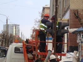 Упавший в центре Ижевска светофор скоро заработает
