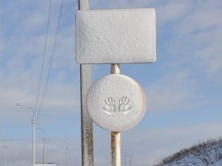 Фотофакт: ижевчане придумали новый дорожный знак