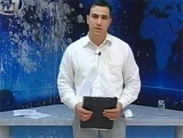 В Греции телеведущего забросали яйцами и йогуртами в прямом эфире