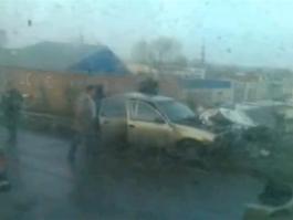 ДТП в Ижевске: Нексия протаранила столб