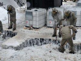 В Удмуртии из ямы с химотходами подняли 94% ледяной массы