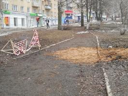 Борьба с опасными ямами в Ижевске: дыру на Пушкинской закрыли