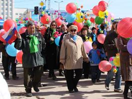 Первомайские демонстрации прошли по всей России