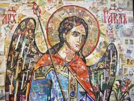 Художник из Ижевска создал икону-мозаику из марок