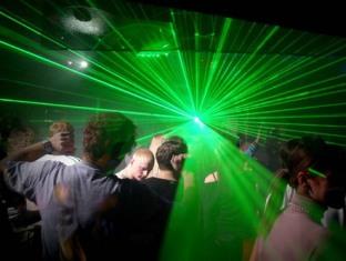 Для болельщиков «Бурановских бабушек» устроили лазерное шоу