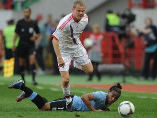 Сборные России и Уругвая по футболу сыграли вничью