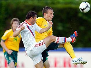 Сборная России по футболу вничью сыграла с Литвой