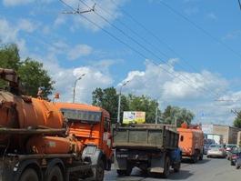 Огромная пробка сковала улицу Удмуртскую в Ижевске