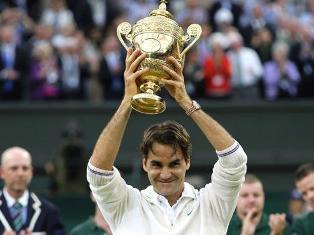 Роджер Федерер седьмой раз в карьере выиграл Уимблдон