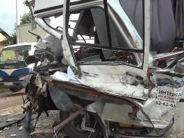 ДТП в Удмуртии: пассажирский автобус столкнулся с  КамАЗом