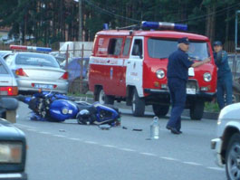В Ижевске мотоциклист врезался в «Волгу»