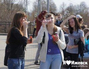 Флэшмоб «Мыльные пузыри» в стиле Спанч Боба пройдет в Ижевске