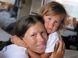 Елену Наговицыну «с медалькой» дома ждет дочь