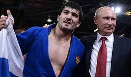 Российский дзюдоист завоевал золото Олимпиады на глазах у Путина