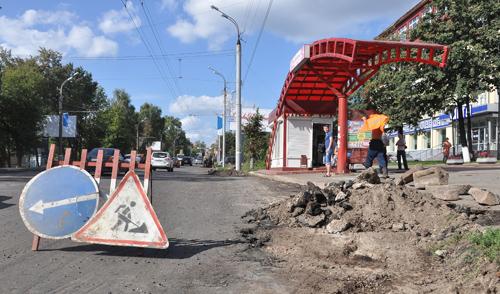 Фотофакт: в Ижевске обновляют улицу Пушкинскую