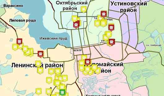 Карта незаконного строительства появилась в Ижевске