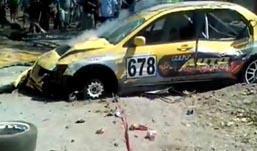 На гонках в Сербии автомобиль врезался в толпу зрителей