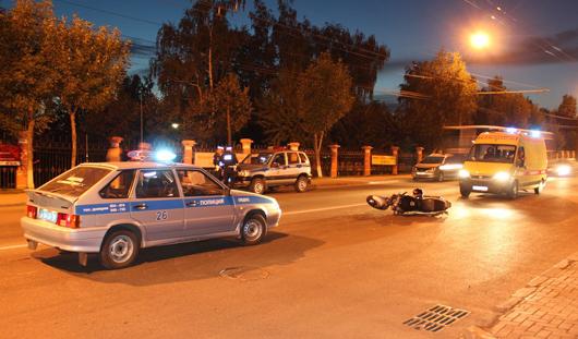 Мотоциклист на пешеходном переходе в Ижевске сбил ребенка