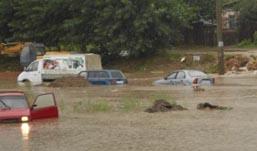 В Казани сильный дождь вызвал потоп