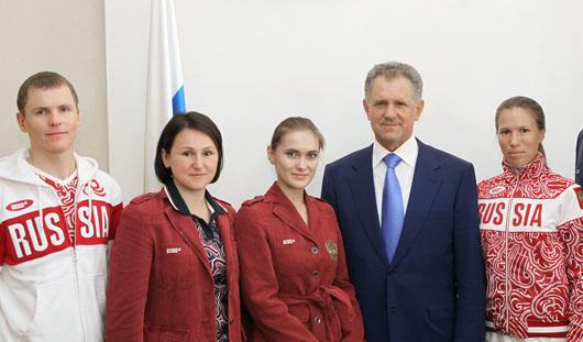 Олимпийцы из Удмуртии собрались вместе на приеме у Президента республики
