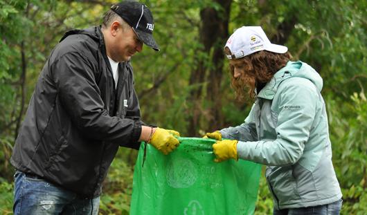 Акция «Блогер против мусора» состоялась в Ижевске