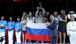 На 40 Всемирной шахматной Олимпиаде женская сборная России выиграла золотые медали