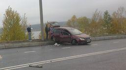 Три авто столкнулись на набережной Ижевска