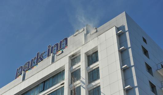 Гостиница «Park Inn» в Ижевске загорелась из-за неосторожного курения
