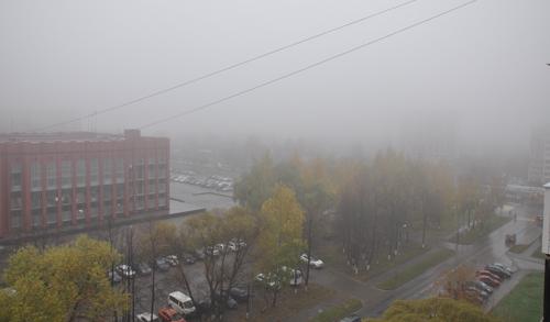 Фотофакт: в Ижевск пришли туманы