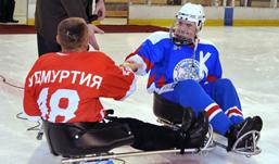 Команда «Удмуртия» по следж хоккею стала победителем в первом туре чемпионата России