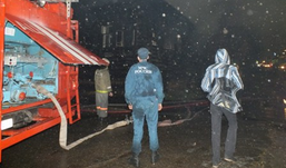 Напротив театра Короленко в Ижевске сгорел барак