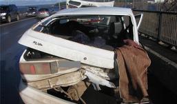 Восемь автомобилей столкнулись в Ижевске из-за гололеда