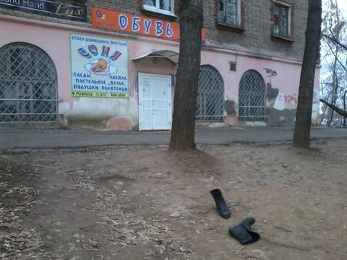 Фотофакт: суровые ижевчане готовятся к зиме, не отходя от магазина