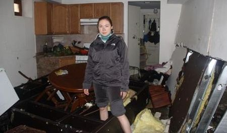 Фотофакт: так пострадала квартира уроженки Воткинска после урагана «Сэнди» в Нью-Йорке