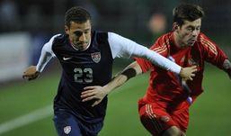 Российские футболисты сыграли вничью с американцами