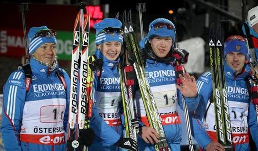 Биатлонисты России завоевали золото на 1-м этапе Кубка мира