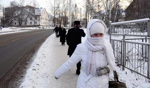 Фотофакт: в Ижевске резко похолодало до -20 градусов