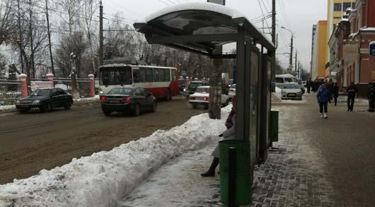 Фотофакт: остановки в Ижевске -  только хардкор!